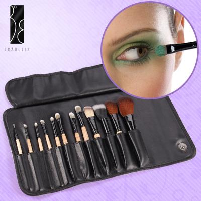 Fraulein3-8-12teilig-Makeup-Lidschatten-Puder-Pinsel-Set-mit-Kunstleder-Tasche