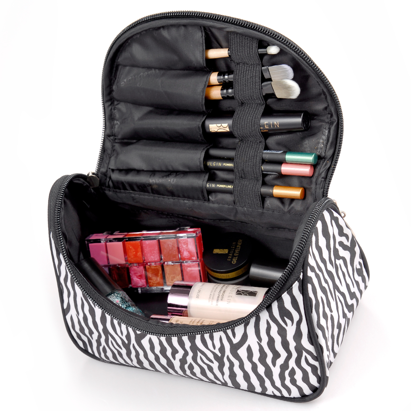fr ulein38 zebra schminktasche make up etui kosmetik. Black Bedroom Furniture Sets. Home Design Ideas