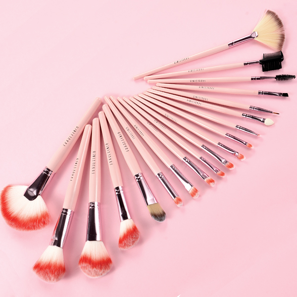fr ulein 38 19 rosa pinsel make up set fuchsia kosmetik. Black Bedroom Furniture Sets. Home Design Ideas