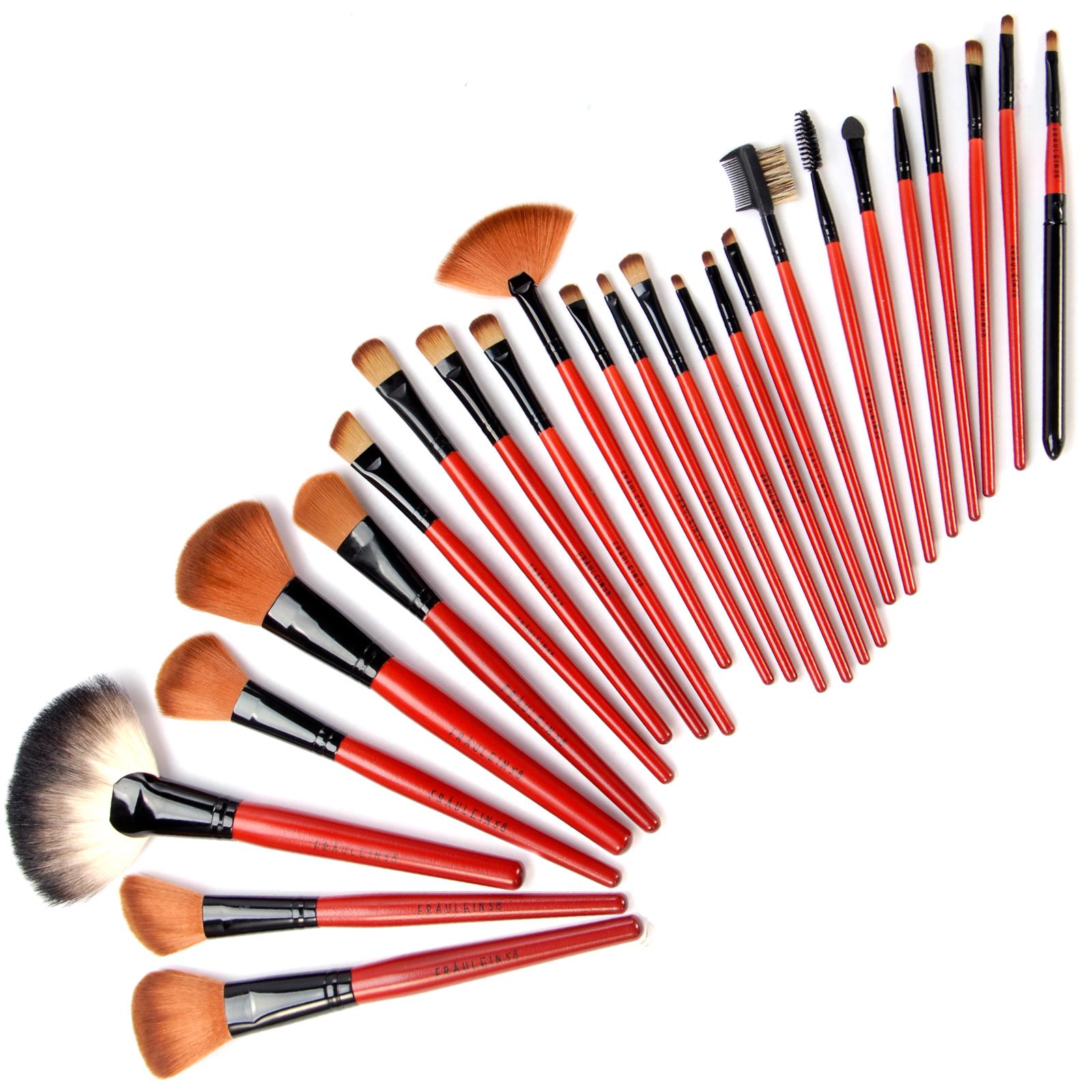 fraeulein 38 25tlg kosmetik pinsel set make up brush set. Black Bedroom Furniture Sets. Home Design Ideas
