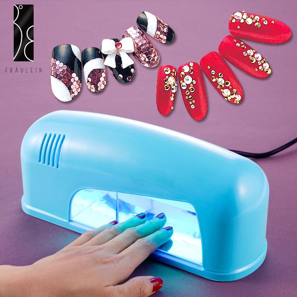 bleu lampe uv 9w seche gel ongles faux tip soin manucure uv neon. Black Bedroom Furniture Sets. Home Design Ideas