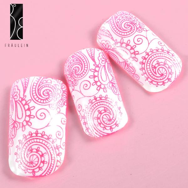 Border Sticker Nail Art lace Tattoo blume