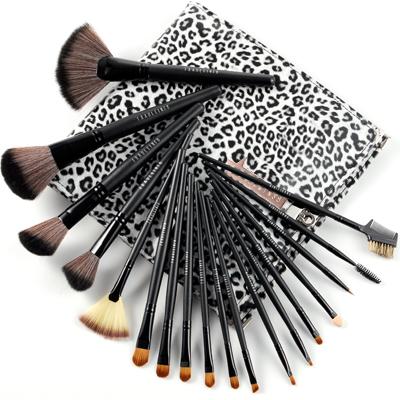 fr ulein 3 8 18 er pinsel echt haar make up set leopard. Black Bedroom Furniture Sets. Home Design Ideas