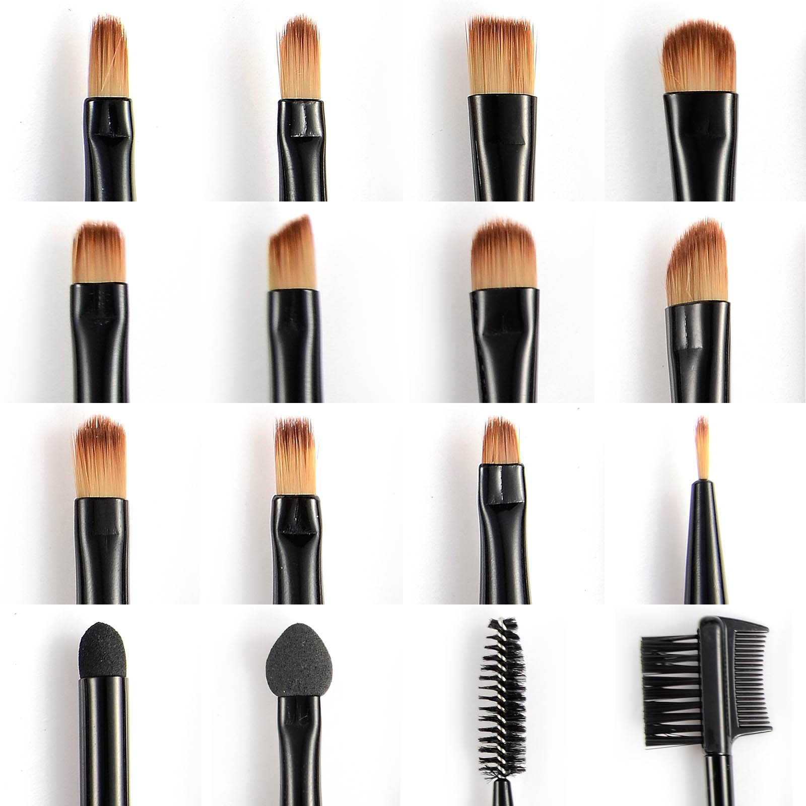 31pcs Professional Makeup Brushes Brush Wood Kit Cosmetic Set 36 Pcs Facial Make Up Tools With Black Leather Case Item Specifics Type